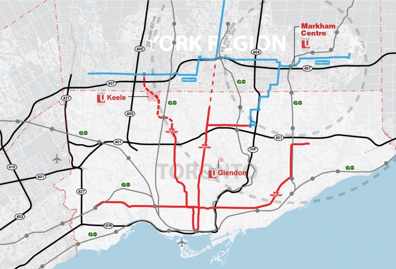 Transit Routes, Markham Centre Campus